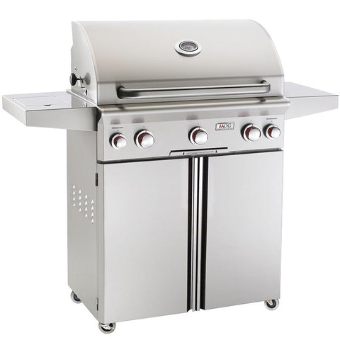 "30"" American Outdoor Grill T-Series On Cart Grill w/ Rotisserie, Liquid Propane"