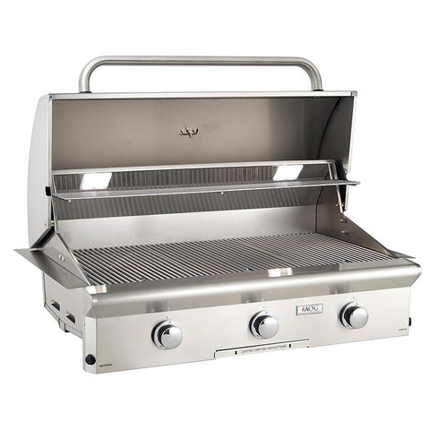 "36"" American Outdoor Grill L-Series Built-In Grill w/ Lights, Liquid Propane"
