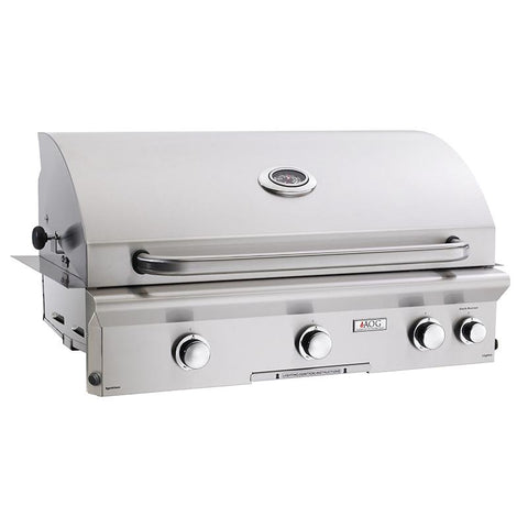 "36"" American Outdoor Grill L-Series Built-In Grill w/ Lights and Rotisserie, Natural Gas"