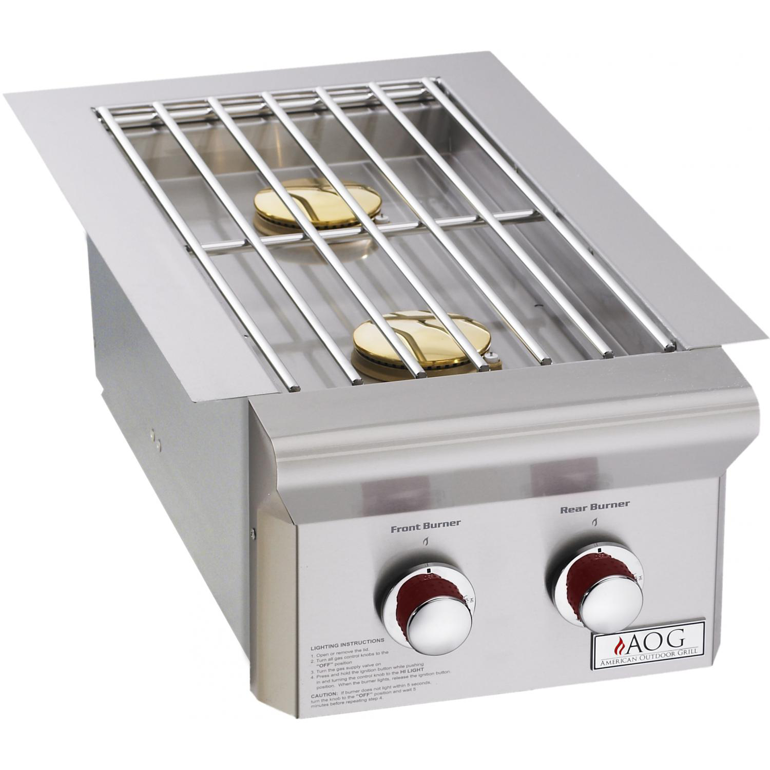 American Outdoor Grill Built-In T-Series Double Side Burner, Liquid Propane