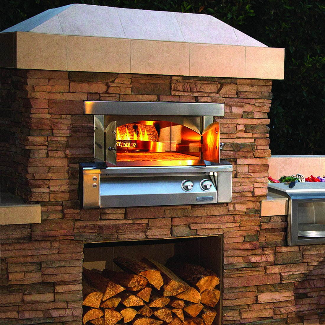 "Alfresco 30"" Built-In Pizza Oven, Natural Gas"
