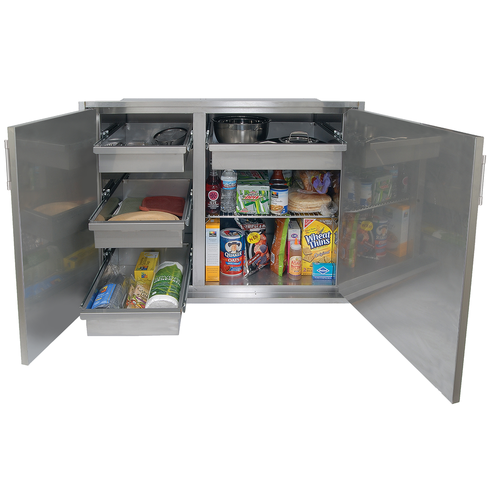 "Alfresco 42"" x 33"" High Profile Sealed Dry Storage Pantry"
