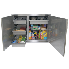 "Alfresco 42"" x 21"" Low Profile Sealed Dry Storage Pantry"