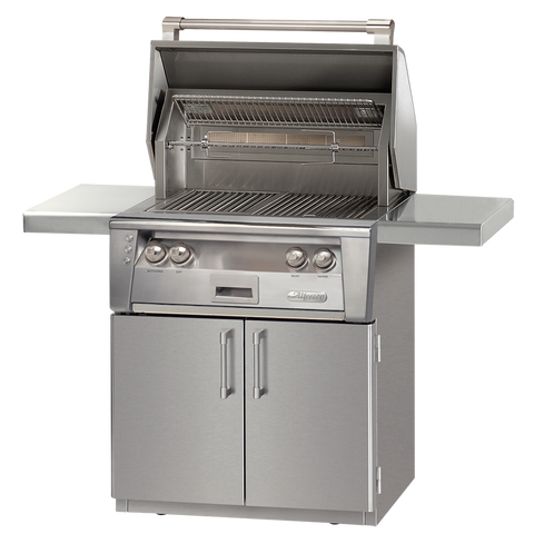 "30"" Alfresco ALXE Gas Grill w/ Rotisserie On Cart, Natural Gas"