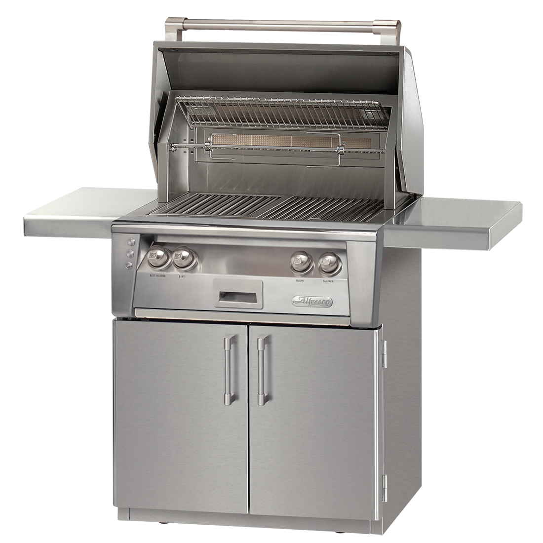 "30"" Alfresco ALXE Gas Grill w/ Sear Zone & Rotisserie On Cart, Liquid Propane"