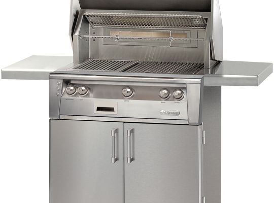 "36"" Alfresco ALXE Gas Grill w/ Rotisserie On Cart, Natural Gas"