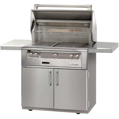 "36"" Alfresco ALXE Gas Grill w/ Sear Zone & Rotisserie On Cart, Natural Gas"