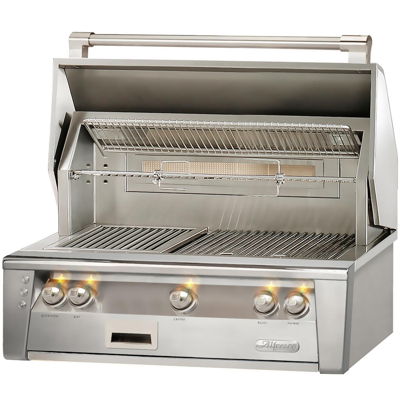 "36"" Alfresco ALXE Built-In Gas Grill w/ Sear Zone & Rotisserie, Natural Gas"