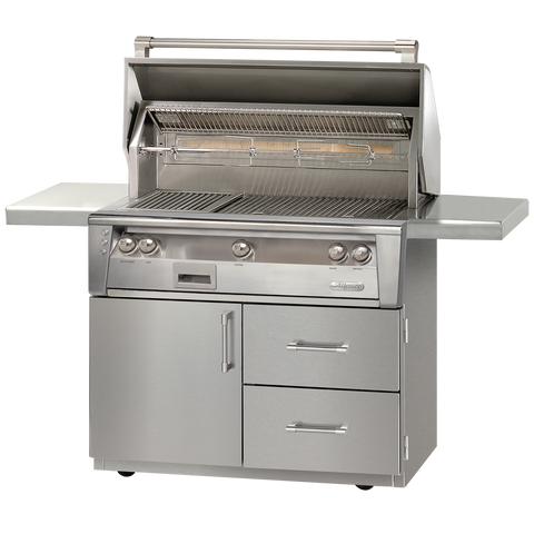 "42"" Alfresco ALXE Gas Grill w/ Sear Zone & Rotisserie On Deluxe Cart, Liquid Propane"