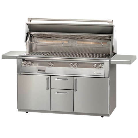 "56"" Alfresco ALXE Gas All Grill w/ Sear Zone & Rotisserie On Cart, Natural Gas"