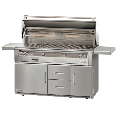 "56"" Alfresco ALXE Gas All Grill w/ Sear Zone & Rotisserie On Refrigerated Cart, Liquid Propane"