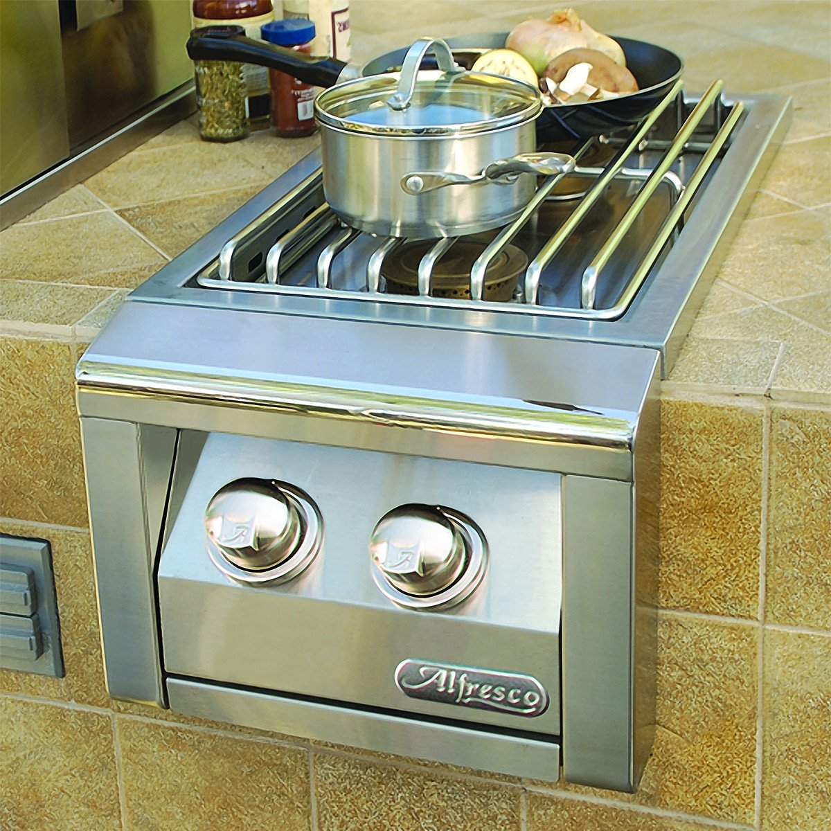 Alfresco Built-In Double Side Burner, Natural Gas