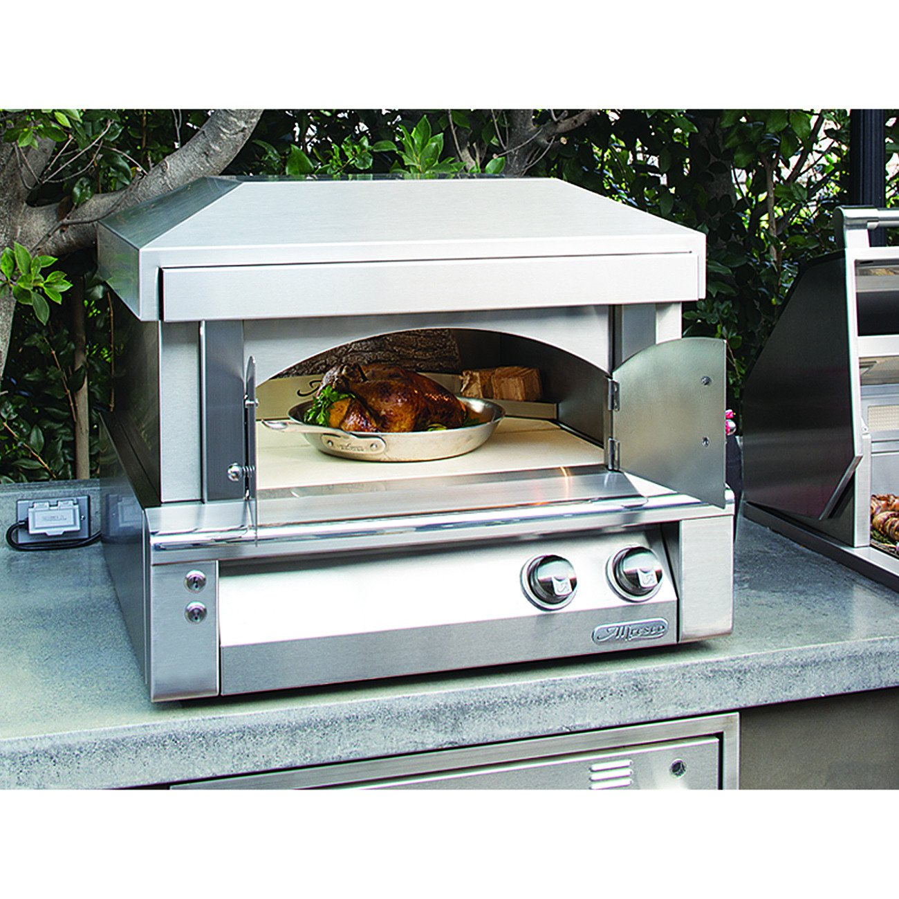 "Alfresco 30"" Pizza Oven for Countertop Mounting, Liquid Propane"