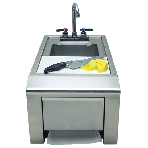 Alfresco Prep and Wash Sink w/ Towel Dispenser