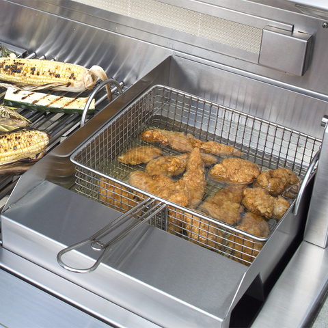 Alfresco Steamer and Fryer for Gas Grills