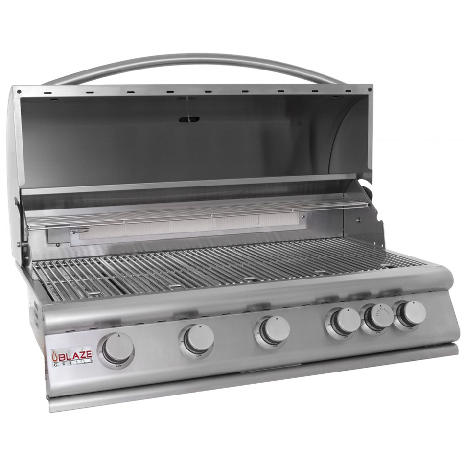 "Blaze 32"" LBM 4-Burner Built-In Gas Grill w/ Rear Infrared Burner, Natural Gas"