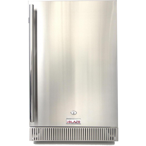 "Blaze 20"" 4.1 Cu. Ft. Outdoor Stainless Steel Compact Refrigerator - UL Approved"