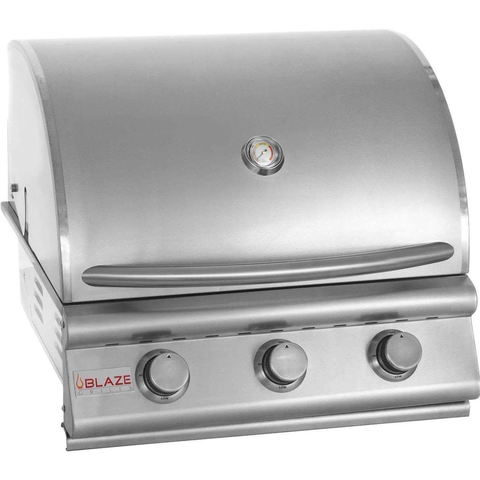 "Blaze 25"" 3-Burner Built-In Gas Grill, Liquid Propane"