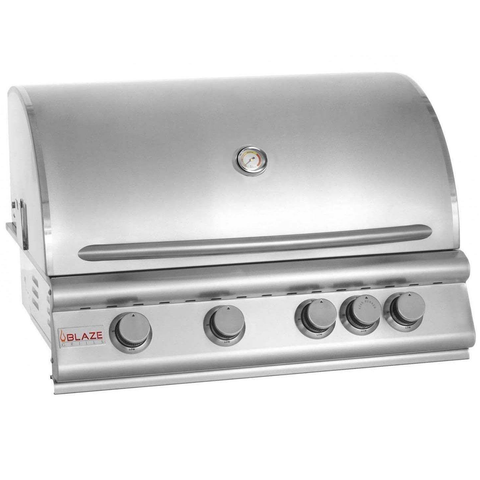 "Blaze 32"" 4-Burner Built-In Gas Grill w/ Rear Infrared Burner, Natural Gas"