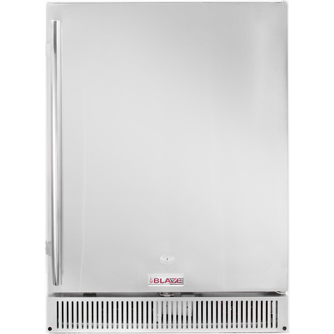 "Blaze 24"" 5.2 Cu. Ft. Outdoor Stainless Steel Compact Refrigerator - UL Approved"