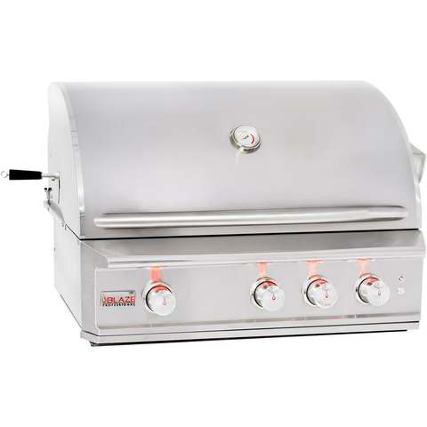 "Blaze Professional 34"" Built-In Gas Grill w/ Rear Infrared Burner, Liquid Propane"