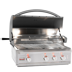 "Blaze Professional 34"" Built-In Gas Grill w/ Rear Infrared Burner, Natural Gas"