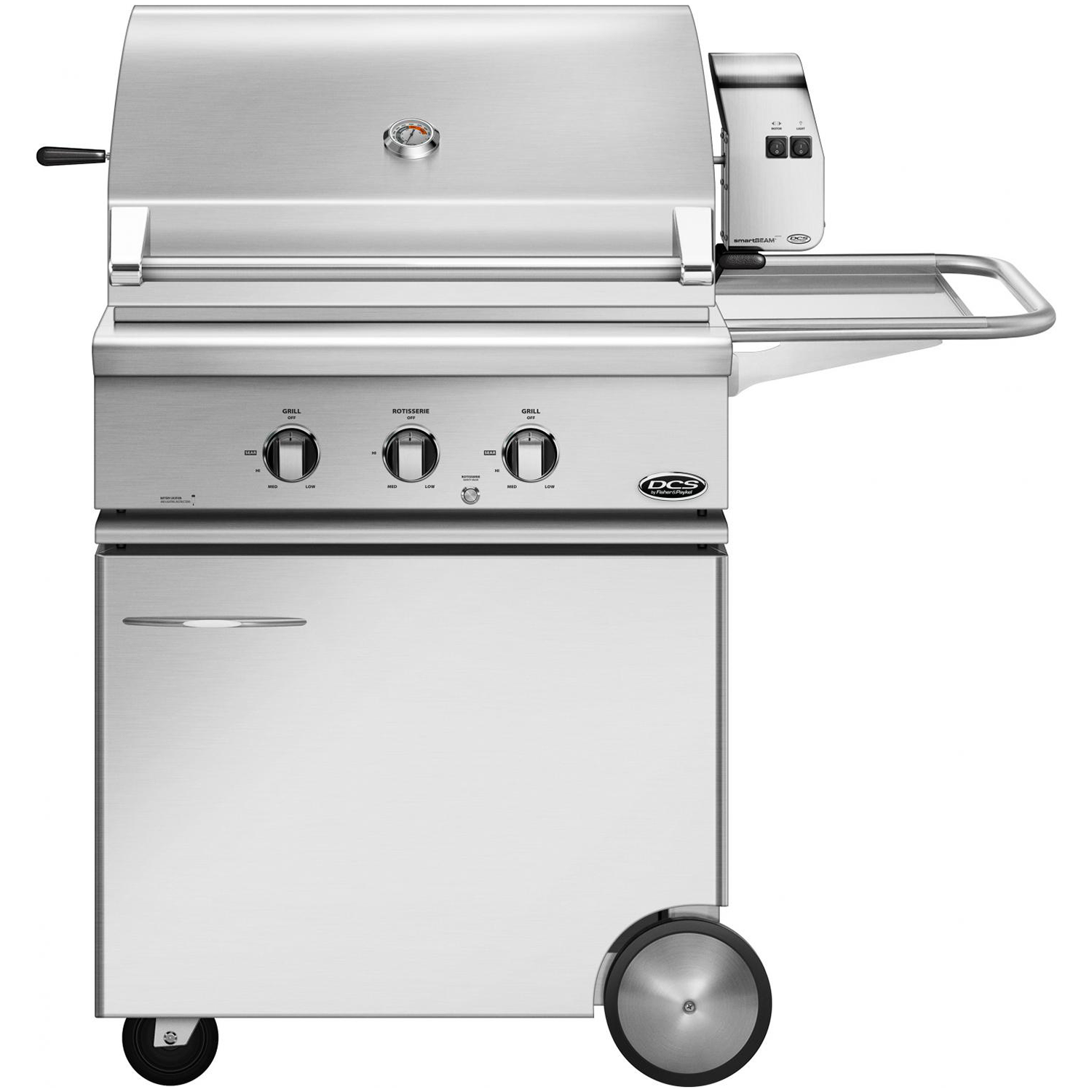 "30"" DCS Freestanding Grill w/ Rotisserie on CSS Cart, Natural Gas"