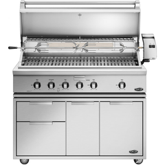 "48"" DCS Freestanding Grill w/ Rotisserie on CAD Cart, Natural Gas"