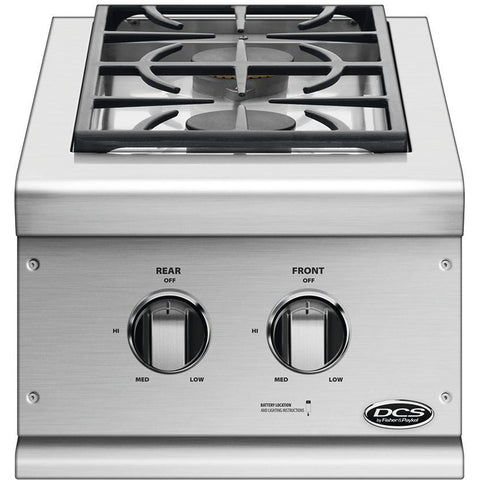 DCS Double Sideburner Built-In Brushed Stainless Steel, Natural Gas