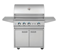 "32"" Delta Heat Freestanding Gas Grill w/ Infrared Rotisserie & Sear Zone on Cart, Natural Gas"