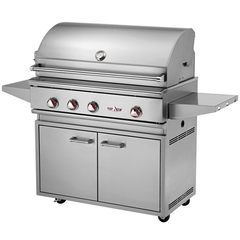"38"" Delta Heat Freestanding Gas Grill w/ Infrared Rotisserie & Sear Zone on Cart, Natural Gas"