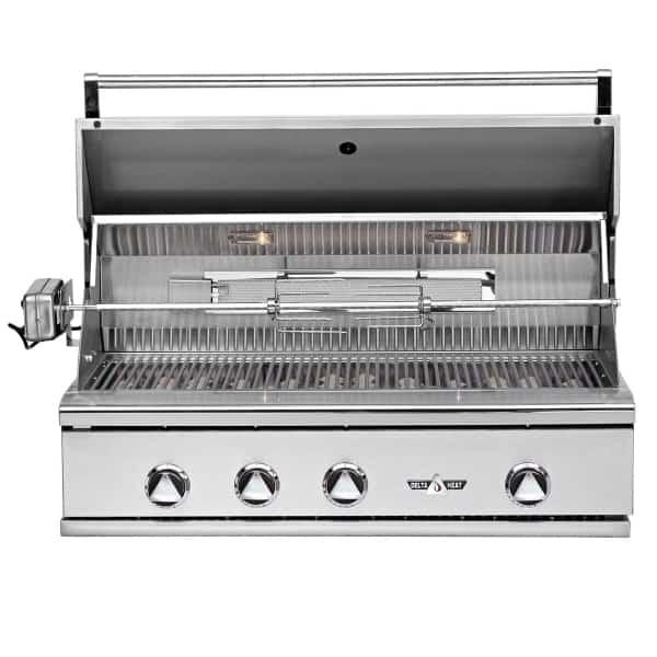 "38"" Delta Heat Gas Grill w/ Infrared Rotisserie & Sear Zone, Natural Gas"