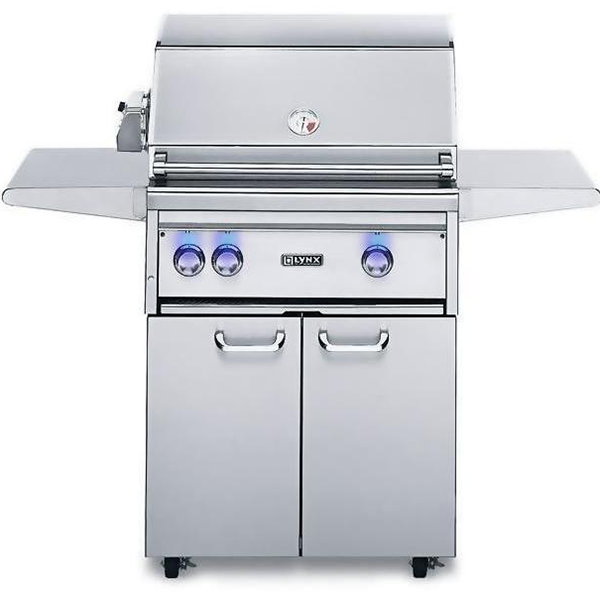 "Lynx 27"" Freestanding Gas Grill w/ Rotisserie and Trident Burner on Cart, Liquid Propane"