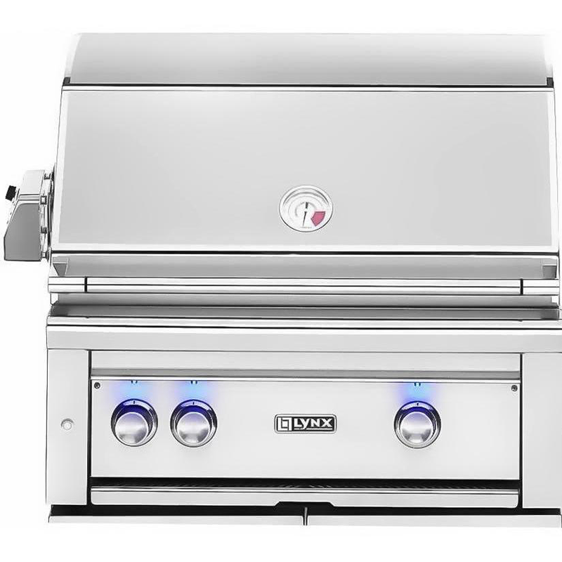 "Lynx 30"" Built-In Gas Grill w/ Rotisserie and 1 Tridant Burner, Liquid Propane"
