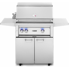"Lynx 30"" Freestanding Gas Grill w/ Rotisserie and 1 Trident Burner on Cart, Liquid Propane"