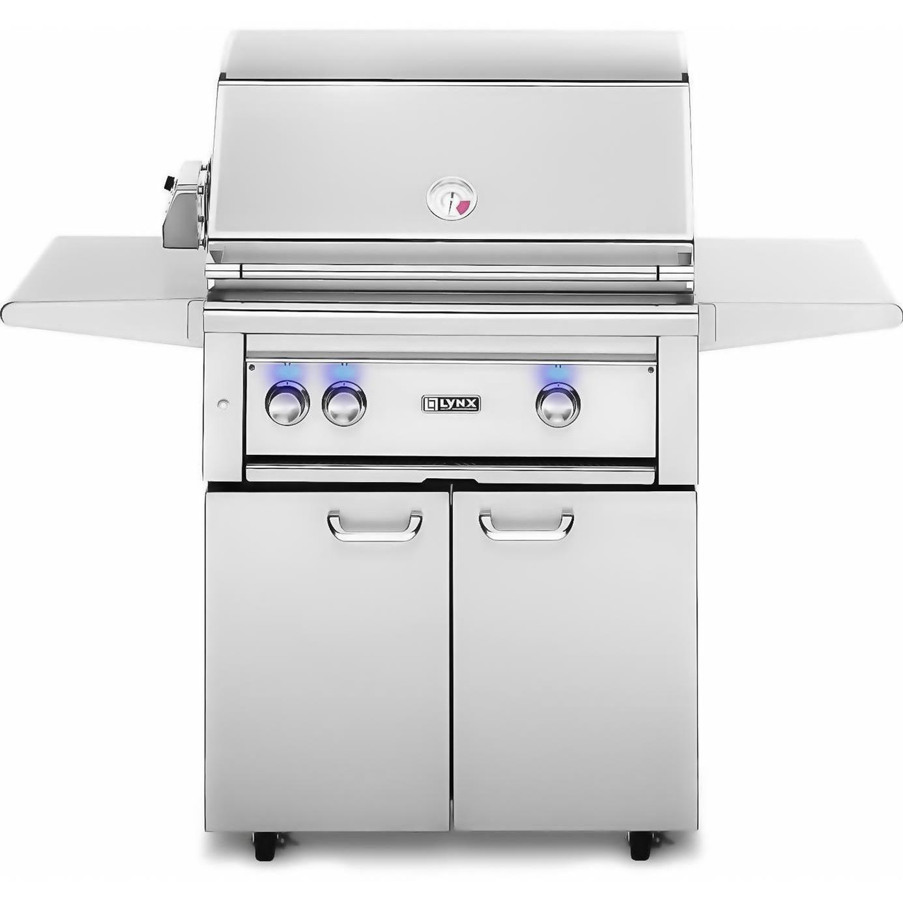 "Lynx 30"" Freestanding Gas Grill w/ Rotisserie and All Trident Burner on Cart, Natural Gas"