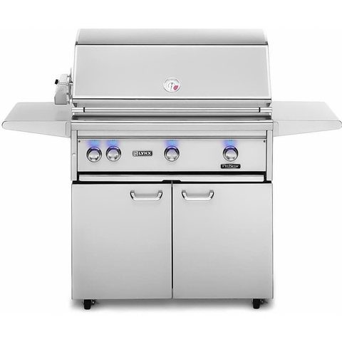 "Lynx 36"" Freestanding Gas Grill w/ Rotisserie and All Infrared ProSear Burner on Cart, Natural Gas"