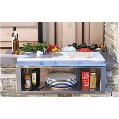Alfresco Built-In Plating and Garnish Center w/ Food Pans