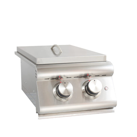Blaze Built-In LTE Double Side Burner with Lights, Liquid Propane