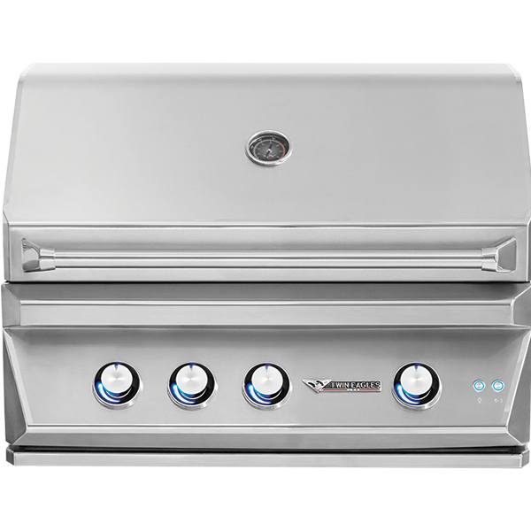 "36"" Twin Eagles Built-In Gas Grill w/ Infrared Rotisserie & Sear Zone, Natural Gas"
