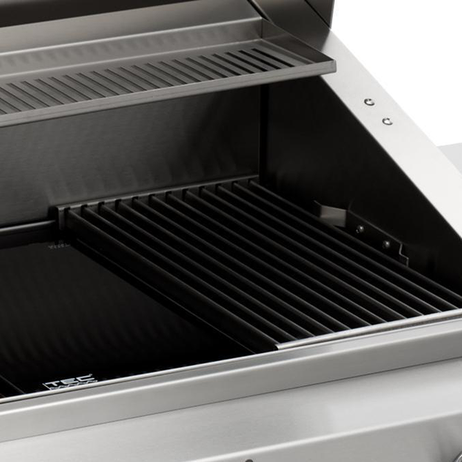"TEC 44"" Sterling Patio FR Freestanding Infrared Gas Grill on Stainless Cabinet, Liquid Propane"