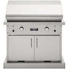 "TEC 44"" Patio FR Freestanding Infrared Gas Grill on Stainless Cabinet, Liquid Propane"