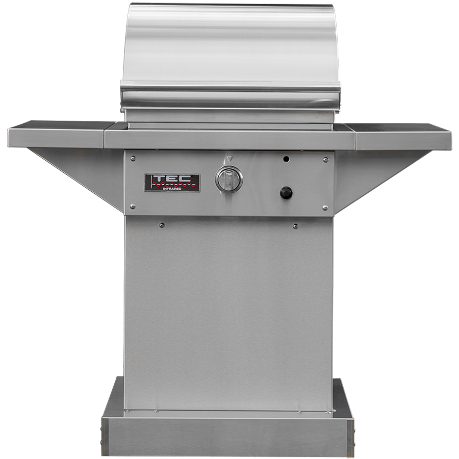 "TEC 26"" Sterling Patio FR Freestanding Infrared Gas Grill on Stainless Pedestal, Liquid Propane"