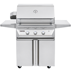 "30"" Twin Eagles Freestanding Gas Grill w/ Infrared Rotisserie & Sear Zone on Double Door Cart, Liquid Propane"