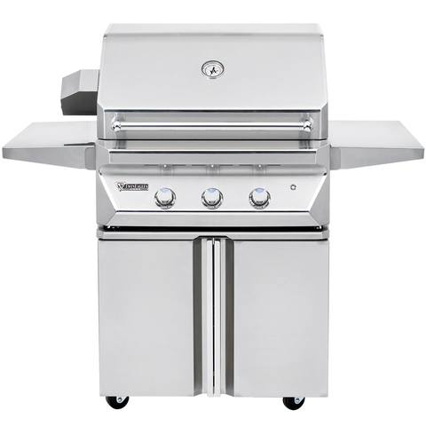 "30"" Twin Eagles Freestanding Gas Grill on Double Door Cart, Liquid Propane"