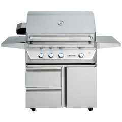 "36"" Twin Eagles Freestanding Gas Grill on Cart w/ Single Door Plus Storage Drawers, Natural Gas"