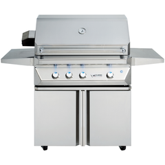 "36"" Twin Eagles Freestanding Gas Grill w/ Infrared Rotisserie & Sear Zone on Double Door Cart, Natural Gas"