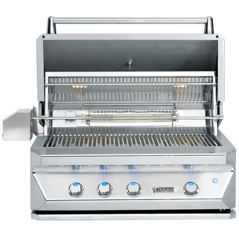 "36"" Twin Eagles Freestanding Gas Grill w/ Infrared Rotisserie & Sear Zone on Cart w/ Single Door Plus Storage Drawers, Natural Gas"