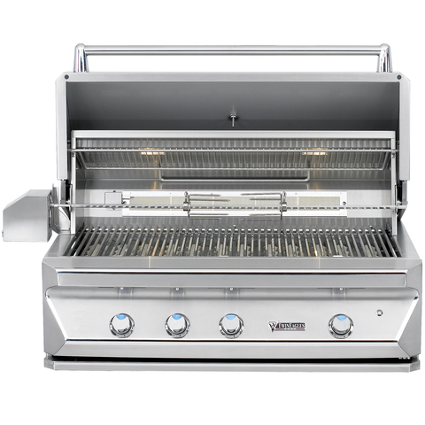 "42"" Twin Eagles Freestanding Gas Grill w/ Infrared Rotisserie on Cart w/ Single Door Plus Storage Drawers, Liquid Propane"
