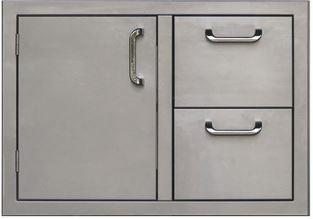 PCM 260 Series Single Door Double Drawer 30 Inch Left